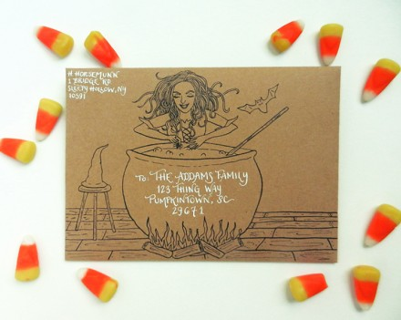 Freebie - Halloween Envelope Template from The Postman's Knock