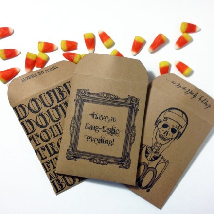 Freebie - Halloween Goodie Bags from The Postman's Knock