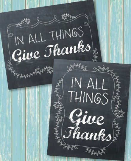 Freebie - give_thanks_printables from Happy Go Lucky