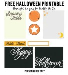 Freebie | Printable Halloween Tags and Labels