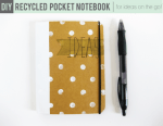 Tutorial | Recycled DIY Pocket Notebook