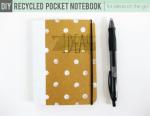 Tutorial | Recycled DIY Pocket Notebook
