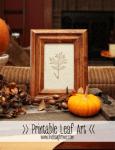 Freebie | Printable Leaf Art