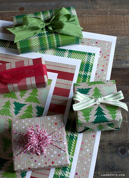 Freebie | Printable Kraft Christmas Gift Wrap Paper