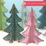Freebie | Printable Pink Christmas Tree