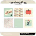 Freebie | Digital Retro 4×4 Holiday Cards