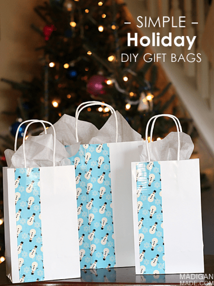 Tutorial - Simple Holiday DIY Gift Bags by Madigan Made