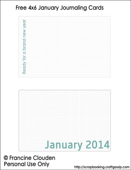 4x6 January Journaling Cards