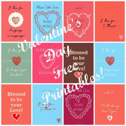 Freebie - Valentine Poster from Sunshine and Dewdrops