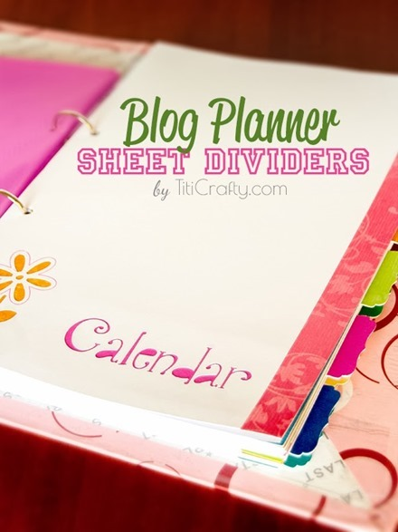 Freebie and Tutorial - Planner Divider Sheets