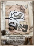 Show and Tell | Mixed Media Burlap Canvas