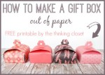 Freebie & Tutorial | Paper Gift Boxes for Mother's Day