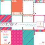8 Summer scrapbook printables