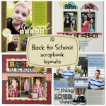 10 Back to School scrapbook layouts