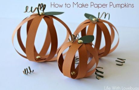 Tutorial - paper pumpkins - Life With lovebugs