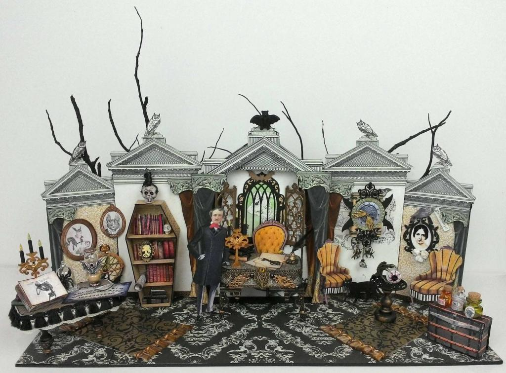 Amazing Halloween Paper House of Poe by