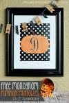 Freebie | Pumpkin Monograms for Fall & Thanksgiving Decor