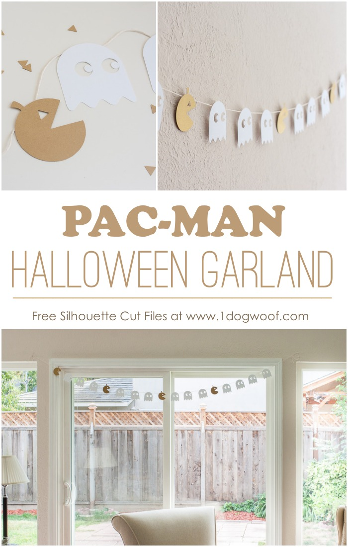 pacman_halloween_garland - free silhouette cut files - 1 dog woof