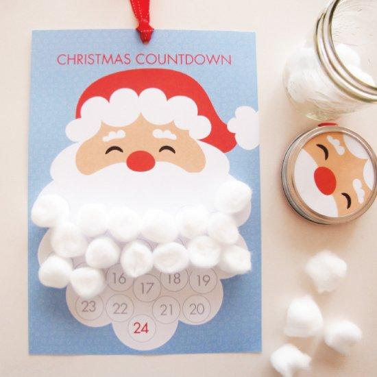 Freebie | Santa Claus Christmas Countdown Calendar – Scrap Booking