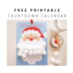 Freebie | Santa Claus Christmas Countdown Calendar