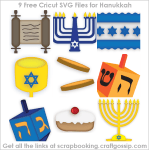 Freebie | 9 SVG Cut Files for Hanukkah