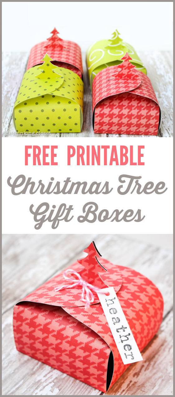 Freebie christmas tree gift boxes scrap booking