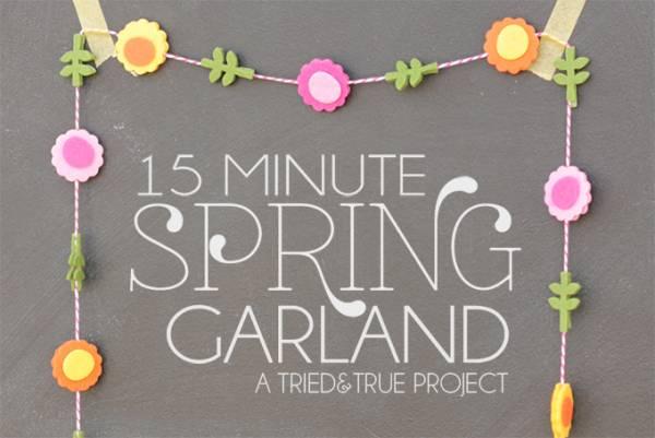 Tutorial - 15 Minute Spring Garland
