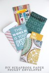 Gathering Beauty: Diy Scrapbook Paper Pocket Envelopes.