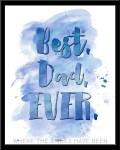 Freebie | Watercolor 'Best. Dad. Ever.' Printable