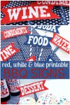 Freebie | Patriotic Signs for July 4th BBQ