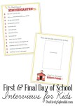 Freebie | First & Final Day of School Interviews