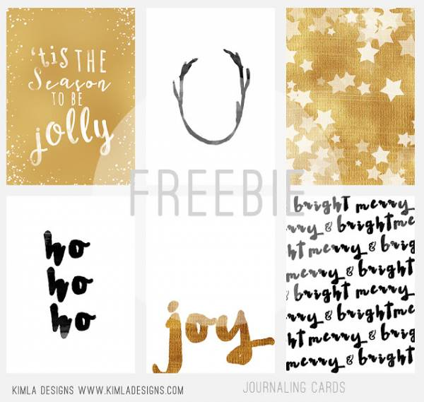 Journaling Cards Christmas Kimla Designs