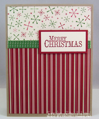 5 Ideas for Easy DIY Christmas Cards - Blocked Patterned Papers