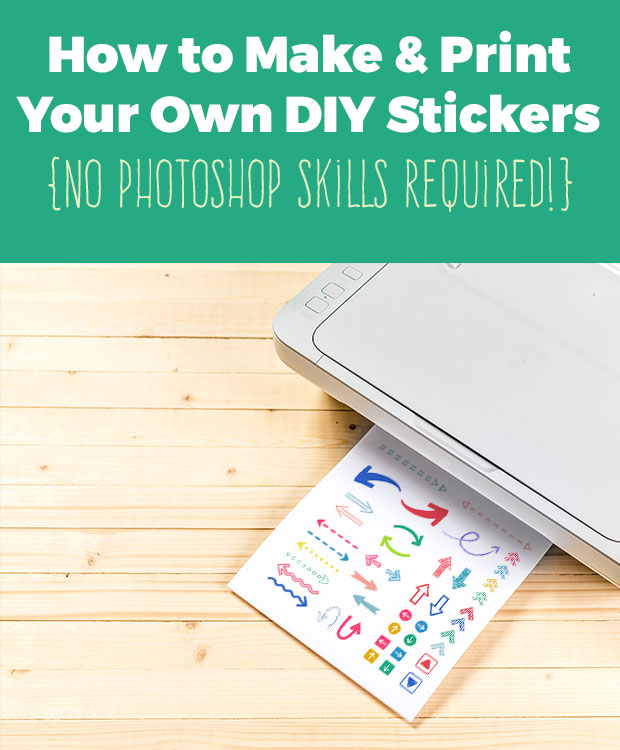 How to make your own diy stickers scrap booking for How to print your own labels