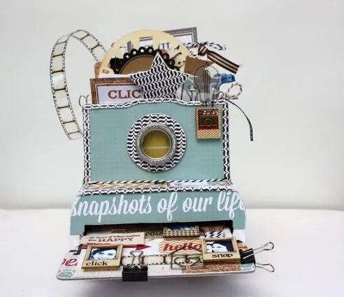 Mini Camera Box Album from Maya Road