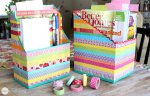 Weekend Project | DIY Washi Tape Cereal Box Organizers