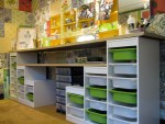 Craft Room Idea – Ikea kids storage with counter tops
