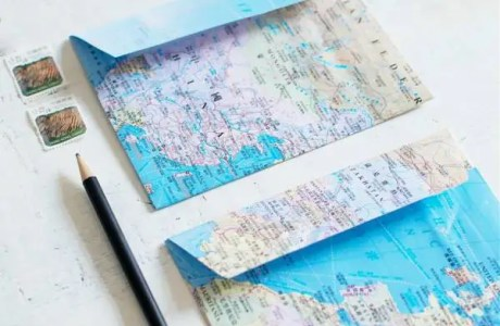 DIY: Map Envelopes
