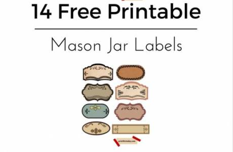 14 Free Printable Mason Jar Labels & Tags