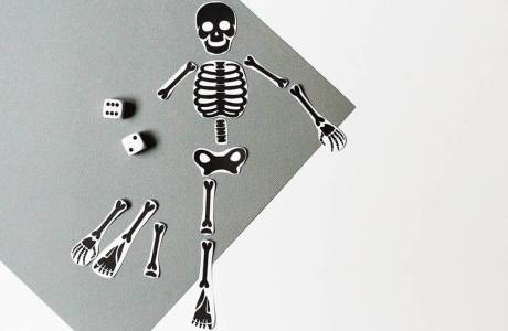 Free Printable Skeleton Game or Scrapbook Embellishment