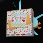 Paw Prints paper bag scrapbook by Scrappy Bags