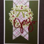 Wondorous Wreath set from 2015-2016 Annual Stampin' Up! Catalog
