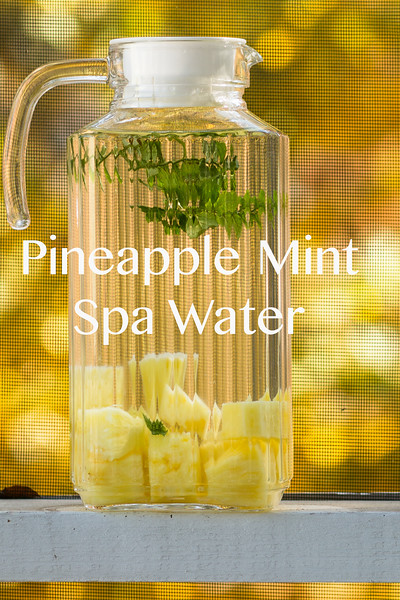 Pineapple Mint Spa Water.  So refreshing!!