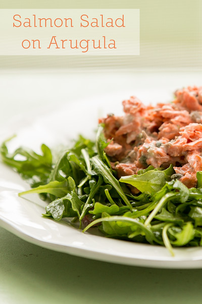 Salmon Salad on Arugula - this salad from Cooking Light is a keeper!  Healthy and delicious!!