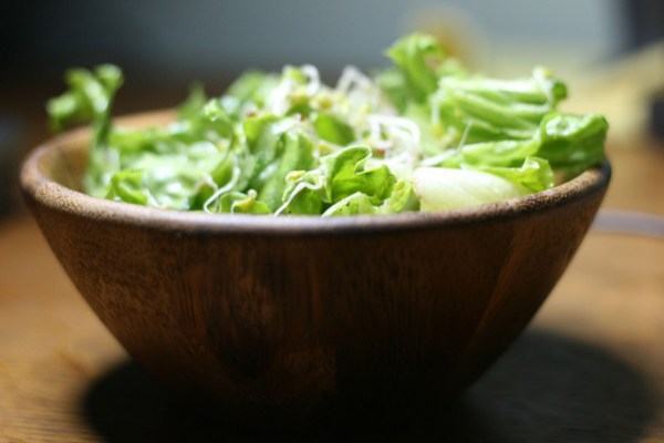 Sprouts on a salad!  So easy to grow yourself!  Sprouting sprouts!