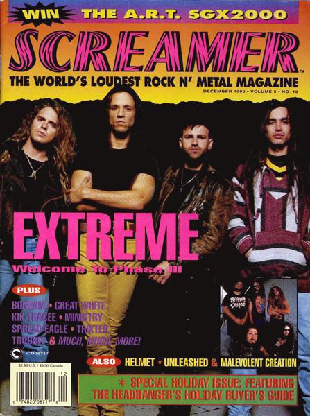 Screamer Magazine December 1992