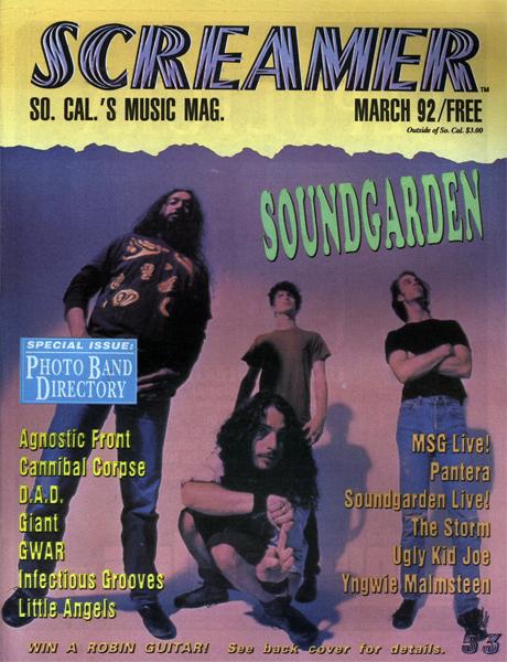 Screamer Magazine March 1992