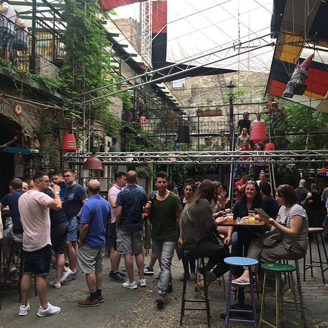 I'm not trying to deny being a tourist, but Szimpla Kert is a little over the top
