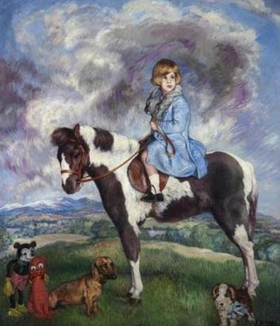Portrait of Cayetana as a child by Spanish painter Zuloaga.