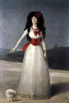 Gotya's painting of the 13th Duchess of Alba, rumoured to have been the painter's lover.